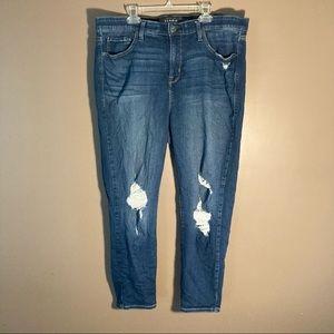 Torrid premium distressed high rise skinny jeans